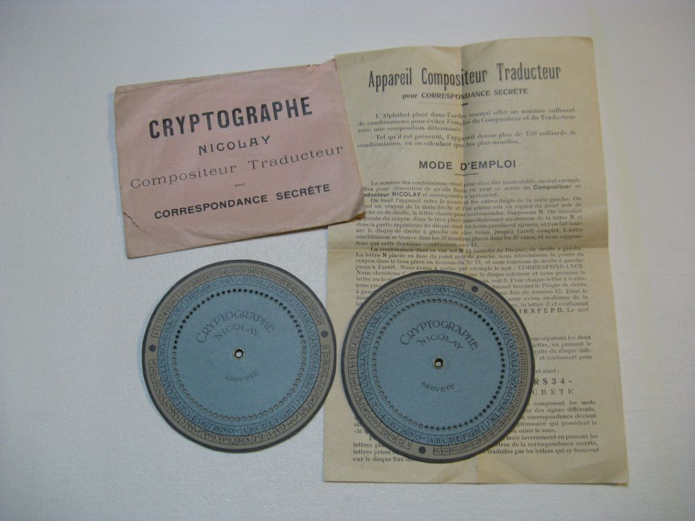 Cryptographe Nicolay - (Manual System)
