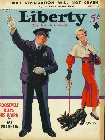 Yardleygram from Liberty magazine - 12 August 1933