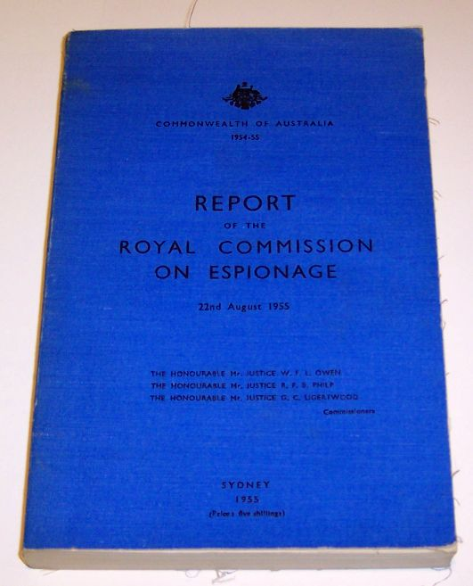 `Report of the Royal Commission on Espionage
