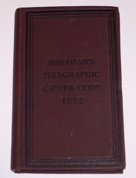 Sheahan's Telegraphic Cipher Code