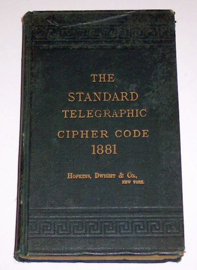 The Standard Telegraphic Cipher Code