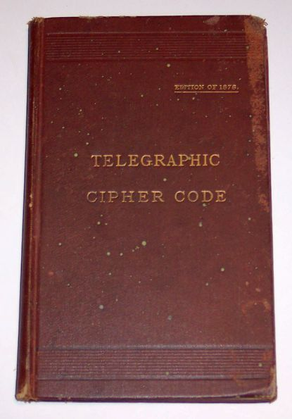 Telegraphic Cipher Code